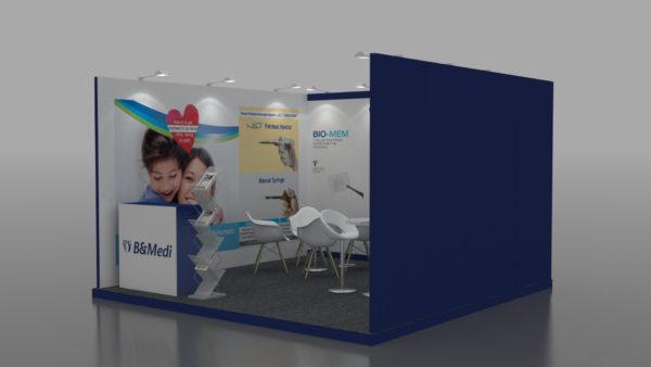 Size 4x4, Eco-friendly exhibition stands in Dubai & UAE