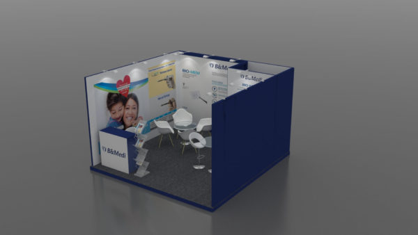 Size 4x4, Eco-friendly exhibition stands in UAE