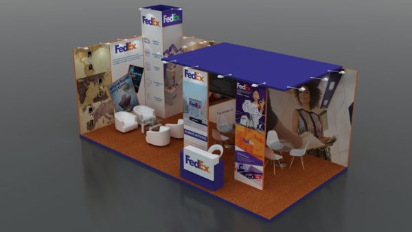 Partly Customizable Modular Exhibition Stands in Dubai