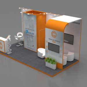 Modular booths in Abudhabi