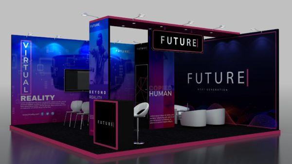 Size 6x6, Modular Exhibition Stand in Abu Dhabi