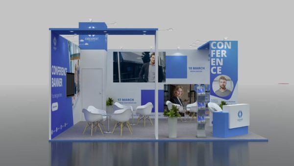 Size 6x6, Modular Exhibition Stand in Dubai