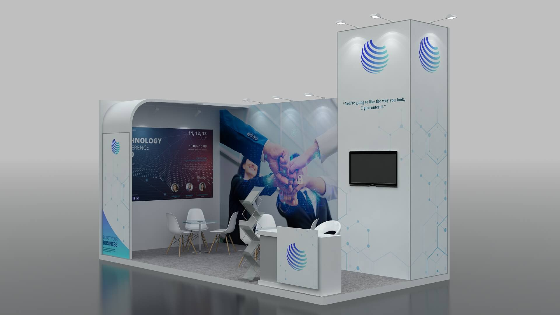 Modular Exhibition Stand in Dubai, UAE