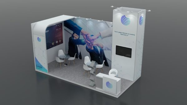 Modular Exhibition Stand in Dubai 6 x 3