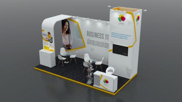 Modular Exhibition Stand in Dubai 6x3