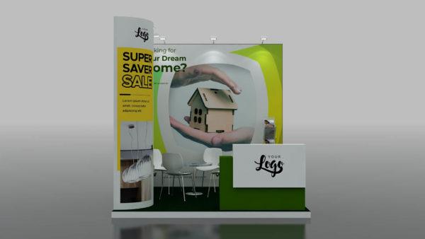 Modular Exhibition Stand in Dubai 3 x 3