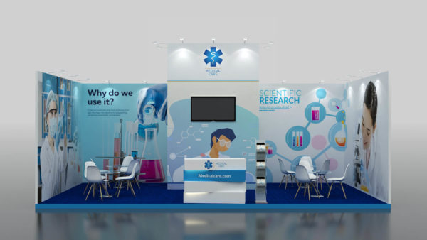 Size 8x4 cost-effective Modular Exhibition Stand in UAE
