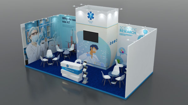 Eco-friendly & cost-effective Modular Exhibition Stand in UAE
