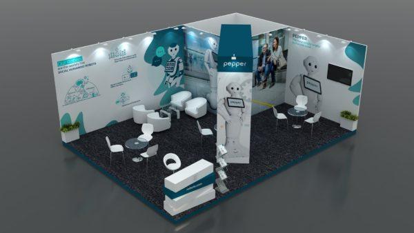 Size 8x6 Modular Exhibition Stand in Abu Dhabi