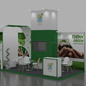 Reusable Modular Exhibition Stand in UAE