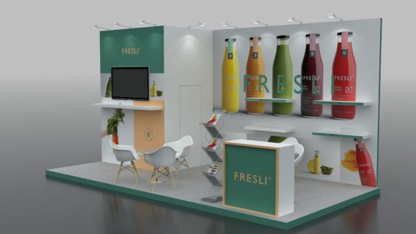 Partly Customizable Modular Exhibition Stands in UAE