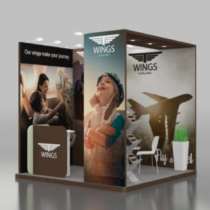 PVC stickers and banners for branding exhibition stands in Dubai