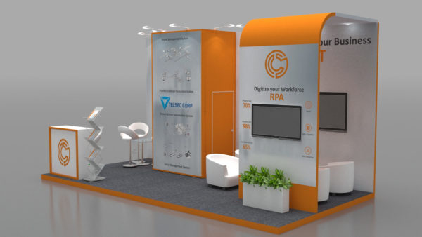Size 5x3, Eco-friendly exhibition stands in Abu Dhabi