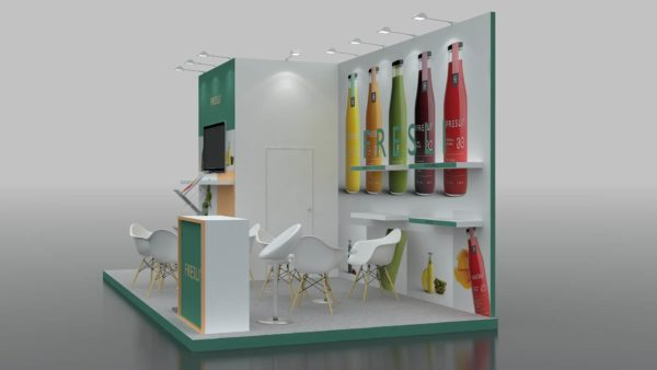 Eco-friendly Modular Exhibition Stand in Abudhabi