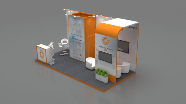Size 5x3, Customizable exhibition stands in UAE