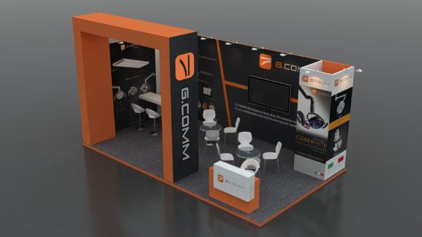 Size 7x4 Eco-friendly Modular Exhibition Stand in Dubai