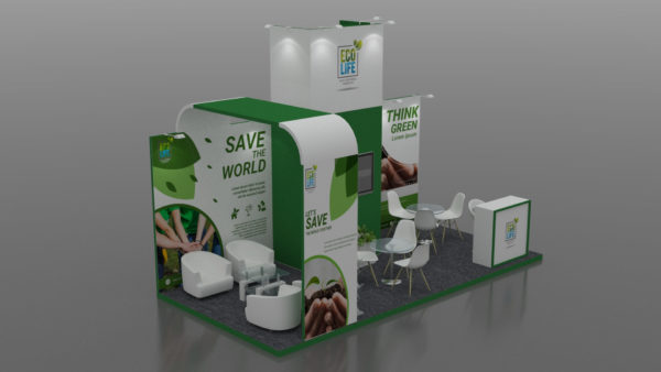 PVC stickers & banners for branding Modular stands