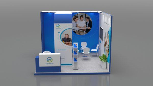 Size 4x4 - Modular Exhibition Stand in Abu Dhabi